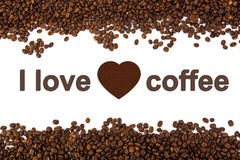 A lot of roasted coffee beans Royalty Free Stock Images