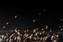 A lot of roasted coffee beans Stock Photos