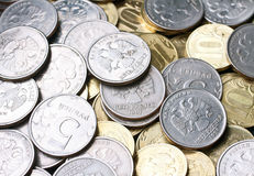lot of russian coins Stock Photo