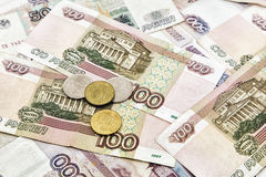 A lot of Russian money Royalty Free Stock Photos