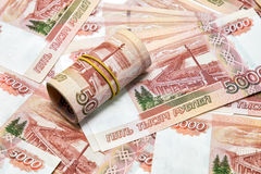 A lot of Russian money Stock Images