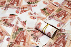 A lot of Russian money Royalty Free Stock Photography