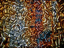 Lot of rusty industrial pieces Stock Image