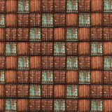 Lot's of cargo freight containers. 3d image of colorful old container Royalty Free Stock Photo