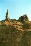Lot`s wife frozen in stone, Dead Sea, Jordan Royalty Free Stock Image
