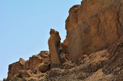Lot's Wife pillar near the Dead Sea, Israel Royalty Free Stock Images