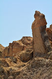 Lot's Wife pillar near the Dead Sea, Israel Royalty Free Stock Photos