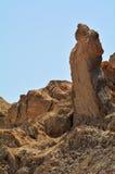 Lot's Wife pillar near the Dead Sea, Israel Royalty Free Stock Photos