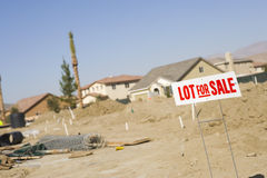 Lot For Sale Royalty Free Stock Photos