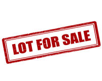 Lot for sale Royalty Free Stock Photography