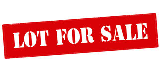 Lot for sale Royalty Free Stock Images