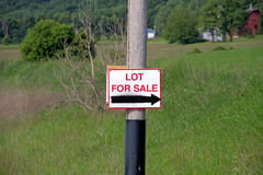 A Lot For Sale Sign Royalty Free Stock Photo