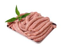 A lot of sausages Royalty Free Stock Photos