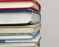 lot of school books Stock Image
