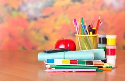 Lot of school things Royalty Free Stock Image