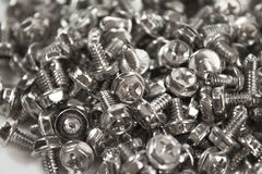 A lot of screws stock images