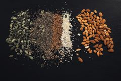 A lot of seeds royalty free stock photos