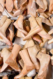 A lot of shoe lasts Royalty Free Stock Photography
