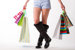 A lot of shopping bags. Royalty Free Stock Image