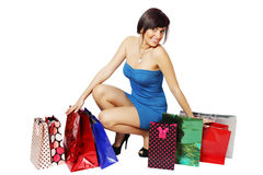 Lot of shopping bags Royalty Free Stock Image
