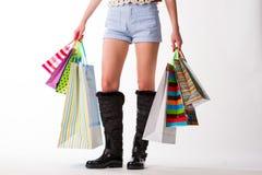 A lot of shopping. Stock Photos