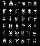 A lot of Signs/Symbols with Shadows Royalty Free Stock Images