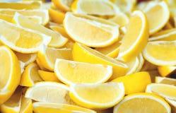 Sliced lemons Stock Image