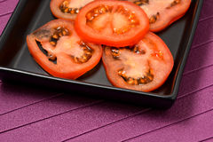 A lot of sliced ​​tomato Stock Photography