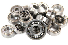 Lot of small ball bearings Stock Photography