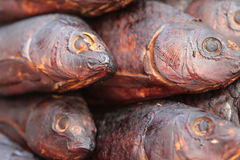 Lot of smoked fish Royalty Free Stock Images