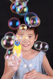 A lot of soap bubble Royalty Free Stock Photos
