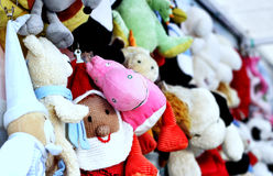 Lot of soft toys Royalty Free Stock Image