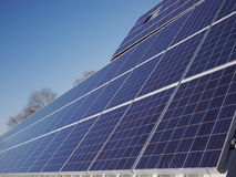 Lot of solar panels electricity Stock Photo