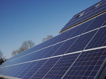 Lot of solar panels electricity. A lot of solar panels for electricity Royalty Free Stock Image