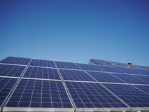 Lot of solar panels electricity. A lot of solar panels for electricity Royalty Free Stock Photos