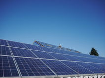 Lot of solar panels electricity Stock Images