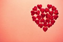 Two hearts together stock photography