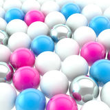 Lot of spheres as abstract backdrop background Stock Image