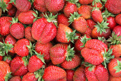 A lot of strawberries. Background made from fresh strawberries Royalty Free Stock Photography