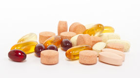 A lot of supplements Stock Photo