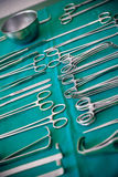 Lot of surgical instruments Royalty Free Stock Images