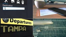 Lot Tampa Podróżować Stany Zjednoczone montażu konceptualna animacja zbiory wideo