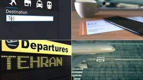 Lot Teheran Podróżować Iran montażu konceptualna animacja zbiory