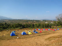 A lot of tents for tourist in Thailand Stock Image