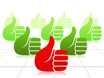 A lot of thumbs up Stock Photo