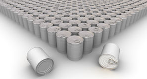 A lot of tin cans Royalty Free Stock Images