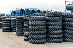 A lot of the tires is in stock Royalty Free Stock Image