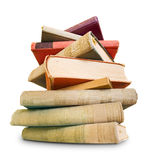 A lot to read, large pile of old books. Royalty Free Stock Photos