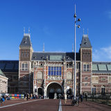 A lot of tourists in front of the Rijksmuseum (National state museum) stock photography