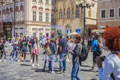 PRAGUA, CZECH REPUBLIC 30.06.2018 Old town square. One of the main attractions of Prague.
